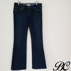 Paige Jeans Dark Wash Laurel Canyon Distress Flare